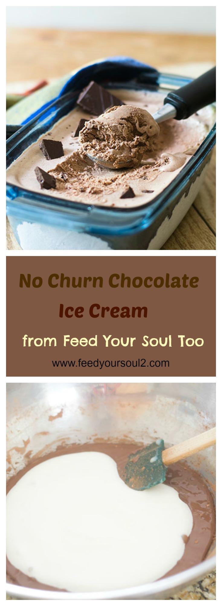 No Churn Chocolate Ice Cream #Dessert #chocolate #Icecream | feedyoursoul2.com