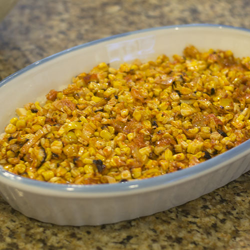 Mexican Spiced Corn Layer Added