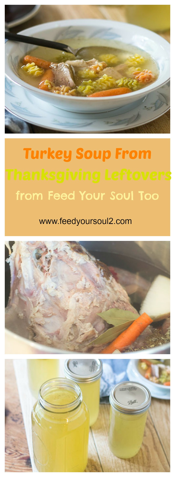 Gluten Free Turkey Noodle Soup from Thanksgiving Leftovers #DIY #Thanksgiving #Soup | feedyoursoul2.com
