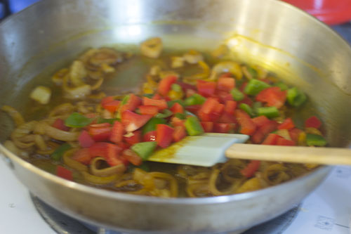 Shallots Peppers Added