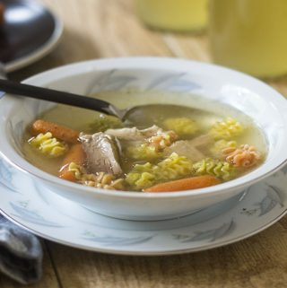 Gluten Free Turkey Noodle Soup from Thanksgiving Leftovers