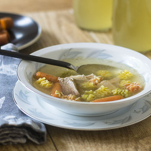 Gluten Free Turkey Stock from Thanksgiving Leftovers from Feed Your Soul Too