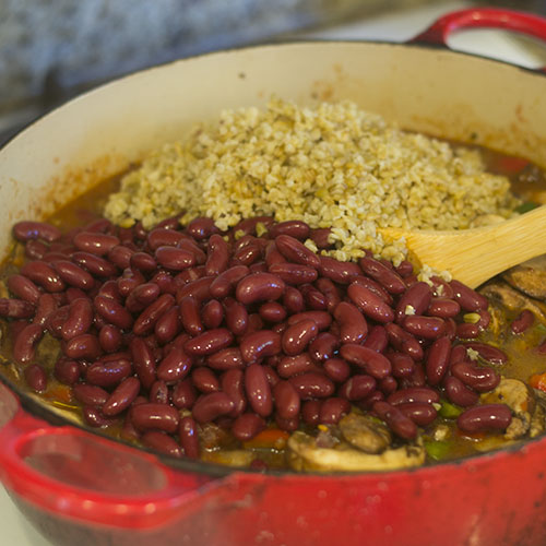 Kidney Beans & Farro Added