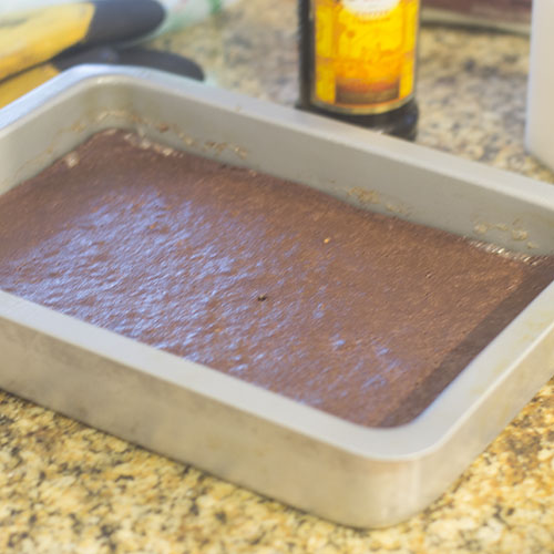 Chocolate Kahlua Brownie after Baking