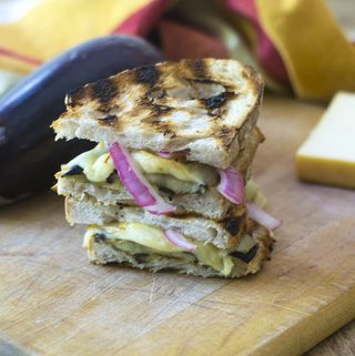 Grilled Eggplant and Smoked Gouda Sandwich