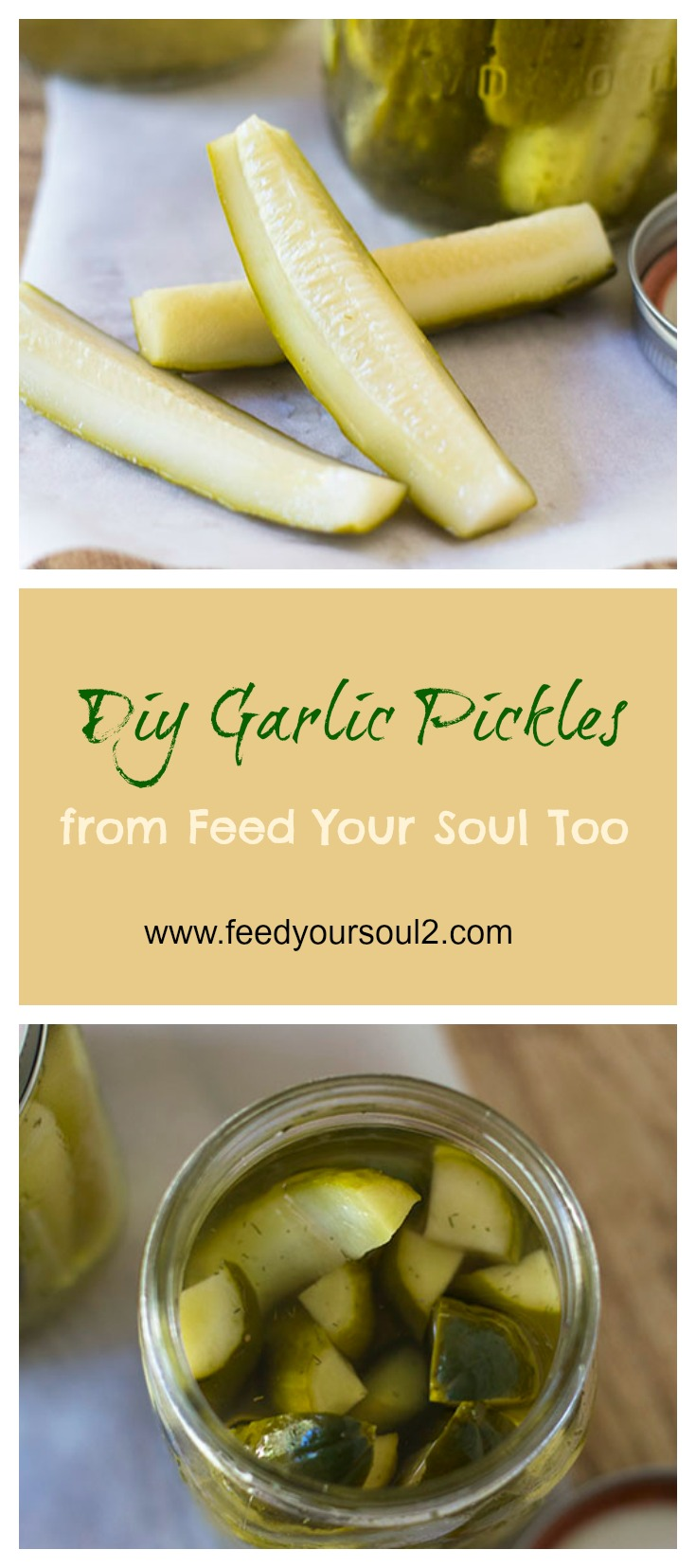 How to make your own Pickles #DIY #Pickles #garlic #dill | feedyoursoul2.com