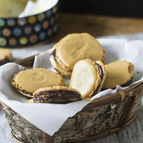 Chocolate Filled Almond Macarons from Feed Your Soul Too