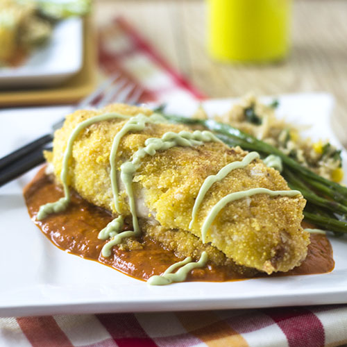 Mexican Risotto Stuffed Chicken Milanese #glutenfree #dinner #chickenrecipes | feedyoursoul2.com