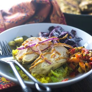 Healthy Middle Eastern Chicken Bowl