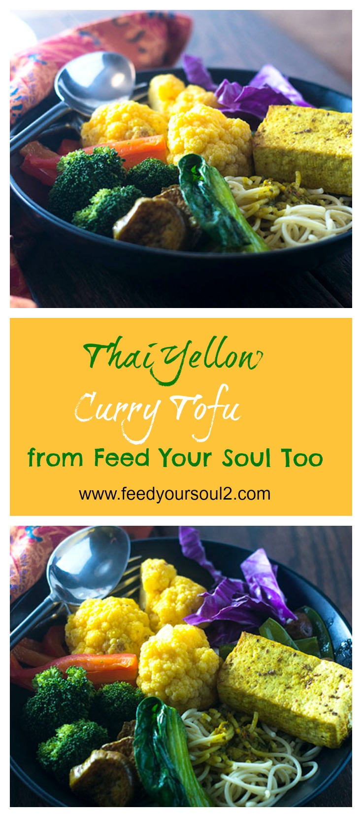 Thai Yellow Curry Tofu #vegan #Thaifood #dinner #vegetarian | feedyoursoul2.com