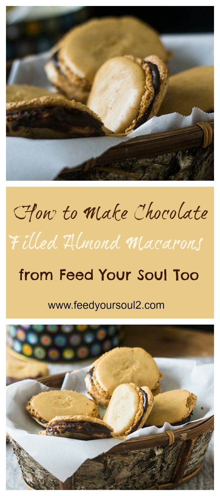 Chocolate Filled Almond Macarons #glutenfree #cookies #dessert | feedyoursoul2.com