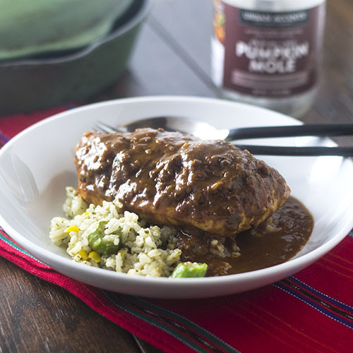 Pumpkin Mole Chicken #producpost #Mexicanfood #mole #chicken | feedyoursoul2.com