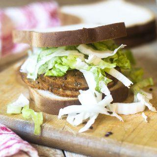 Vegan Gluten Free Pastrami Sandwich