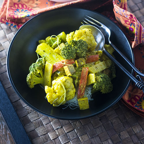 Yellow Curry Vegetables with Tofu from Feed Your Soul Too