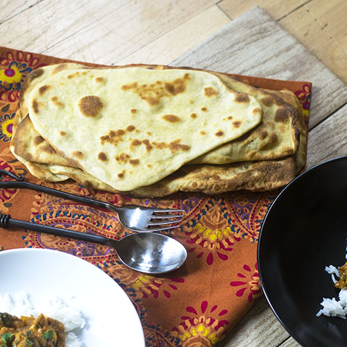 Cheese Naan Bread from Feed Your Soul Too