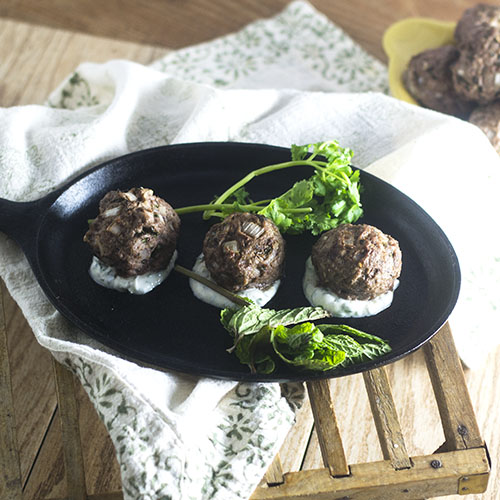 Greek Lamb Meatballs from Feed Your Soul Too