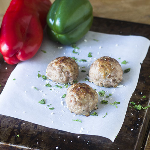 Jalapeno Popper Stuffed Meatballs from Feed Your Soul Too