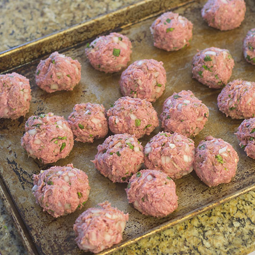 Lamb Meatballs Formed