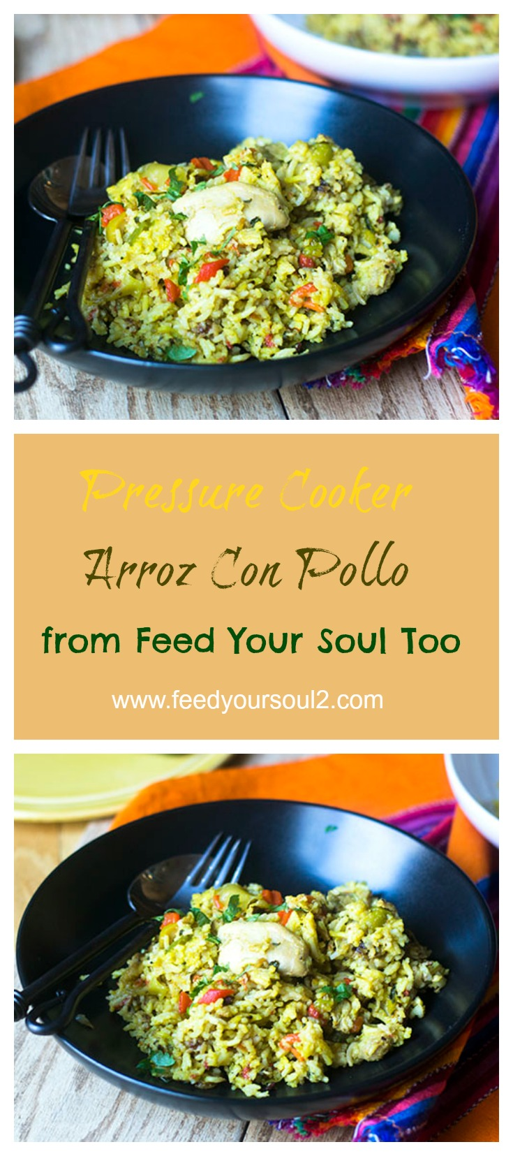 Pressure Cooker Arroz Con Pollo #chicken #pressurecooker #cubanfood #comfortfood | feedyoursoul2.com
