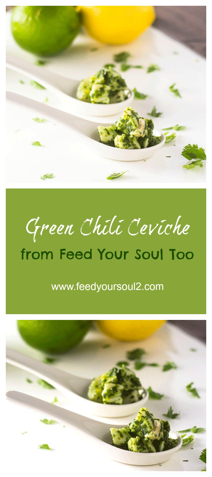 Green Chili Ceviche #Mexicanfood #rickbayless #appetizer #seafood | feedyoursoul2.com
