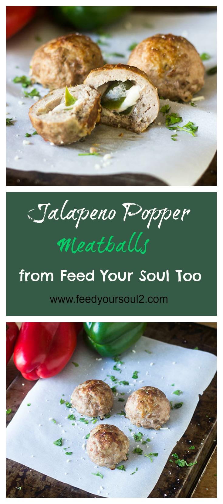 Jalapeno Popper Stuffed Meatballs #meatballs #Mexicanfood #jalapenos #appetizer | feedyoursoul2.com