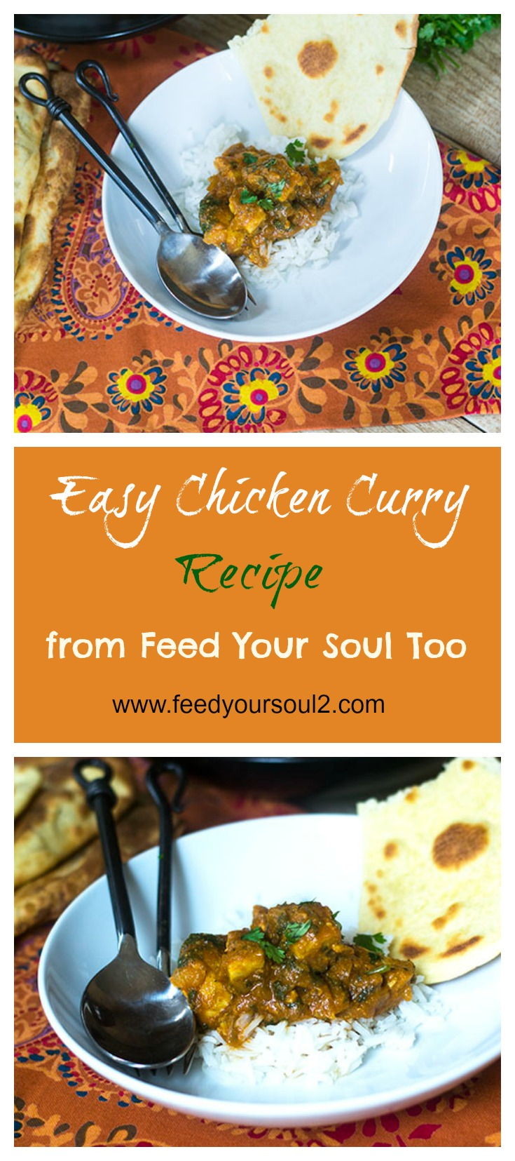 Easy Chicken Curry Recipe #Indianfood #glutenfree #curry | feedyoursoul2.com