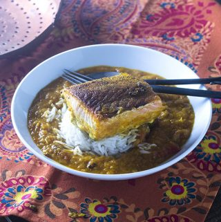 Indian Spiced Salmon in a Curry Sauce