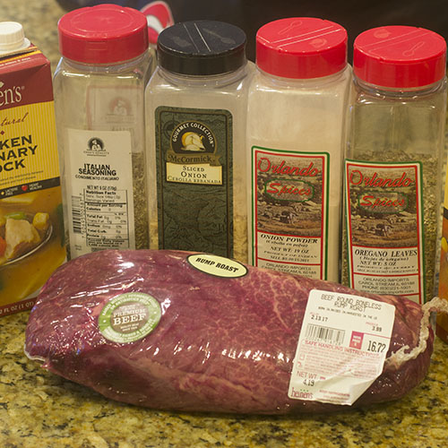 Rump Roast and Spices for Pressure Cooker