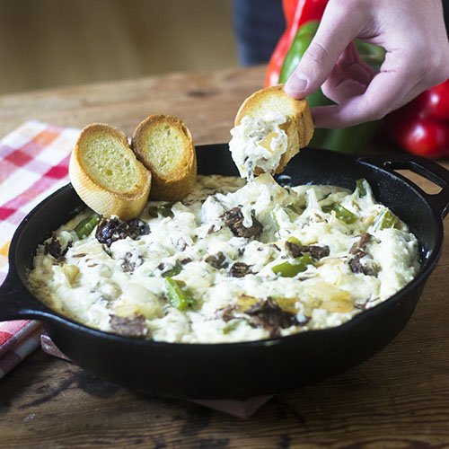 Philly Cheesesteak Dip from Feed Your Soul Too