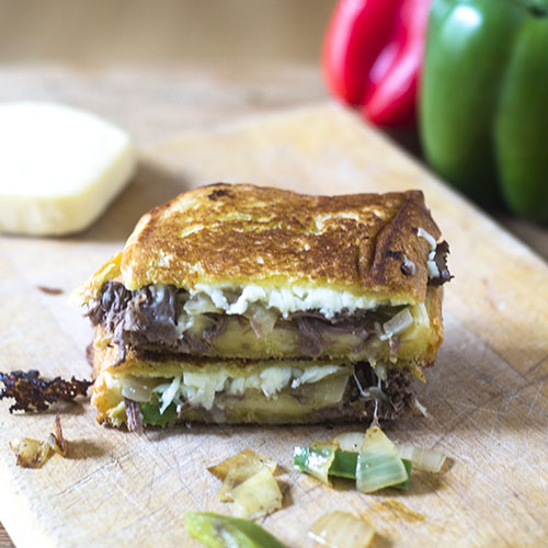 Pressure Cooker Grilled Beef & Cheese Sandwich from Feed Your Soul Too