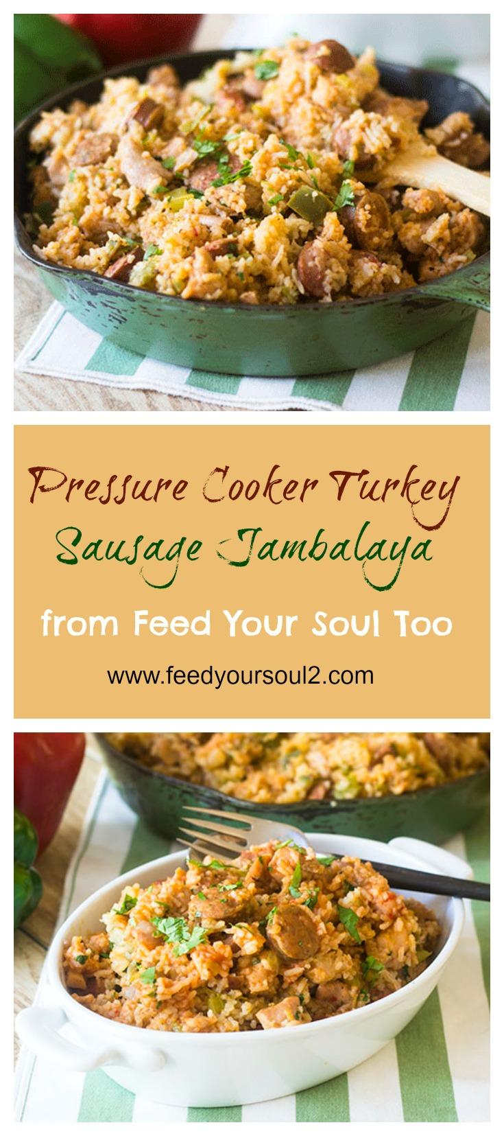 Pressure Cooker Chicken Sausage Jambalaya #Pressurecooker #Cajun #chicken #dinner | feedyoursoul2.com