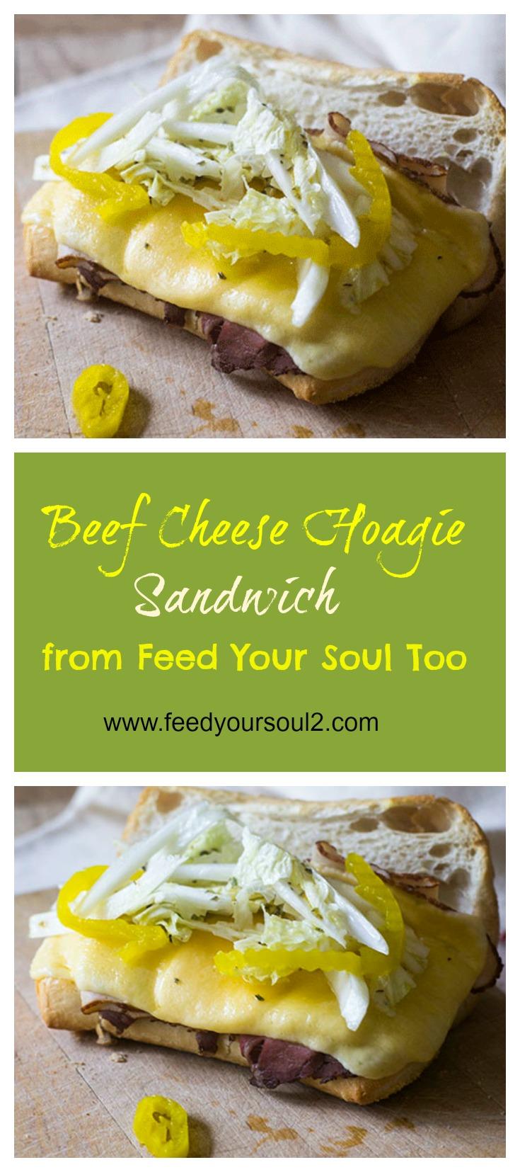 Beef Cheese Hoagie Sandwich #Sandwich #hoagie #beef #cheese | feedyoursoul2.com