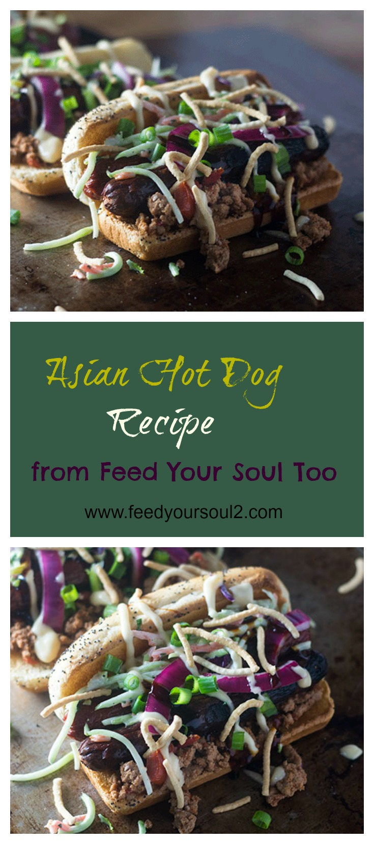 Asian Hot Dog Recipe #promotion #Asianrecipe #kosher #hotdog | feedyoursoul2.com