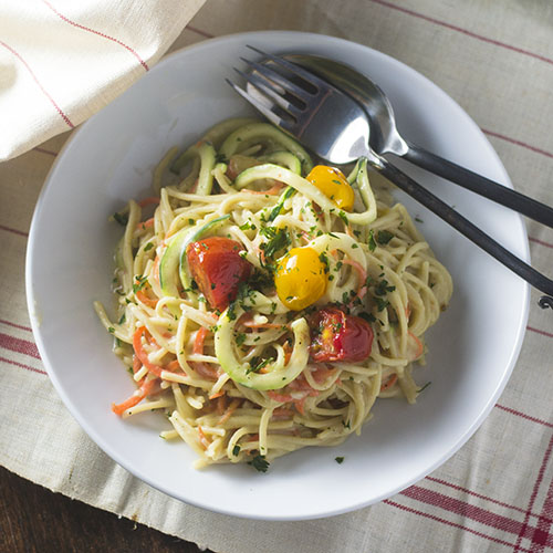 Vegan Gluten Free Spaghetti Alfredo from Feed Your Soul Too