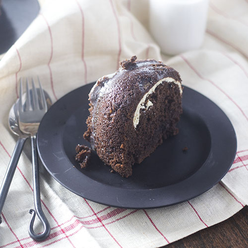 Chocolate Cream Cheese Filled Bundt Cake from Feed Your Soul Too