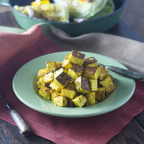 Pan Fried Curry Paneer from Feed Your Soul Too