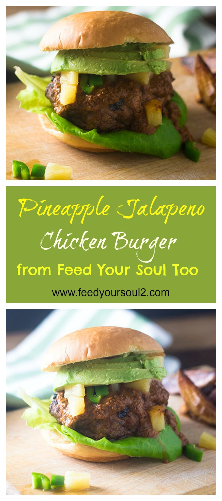 Pineapple Jalapeno Chicken Burger #dinner #spicy #chicken #burgers | feedyoursoul2.com
