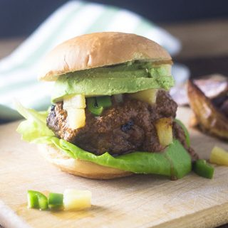 Pineapple Jalapeno Chicken Burger