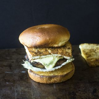Indian Paneer Curry Burger