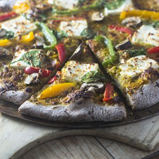 Indian Paneer Yellow Curry Pizza
