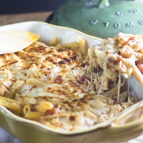 Mexican Chicken Pasta Bake #dinner #fusion #Mexicanfood #pasta | feedyoursoul2.com