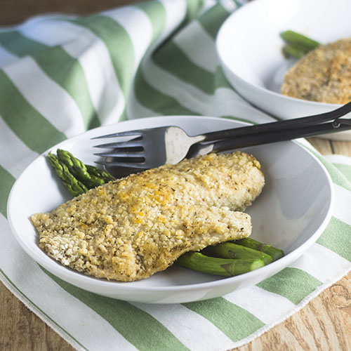 Gluten Free Parmesan Crusted Tilapia from Feed Your Soul Too