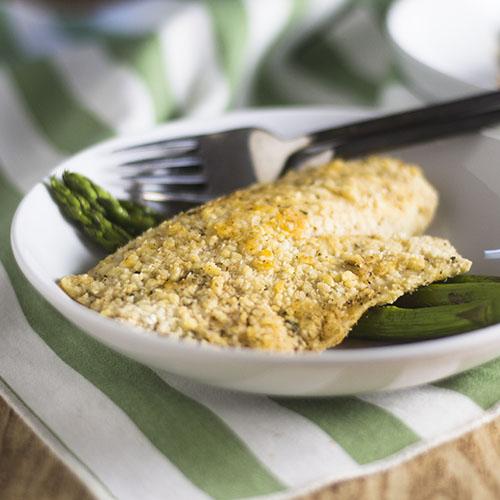 Gluten Free Parmesan Crusted Tilapia #seafood #glutenfree #dinner | feedyoursoul2.com