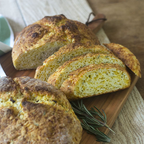 Irish Rosemary Cheddar Soda Bread