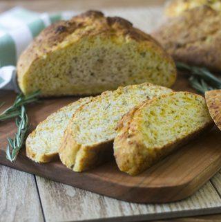 Irish Rosemary Cheddar Soda Bread