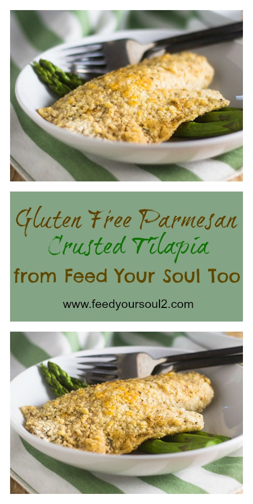 Gluten Free Parmesan Crusted Tilapia #seafood #glutenfree #dinner | feedyoursoul2.com