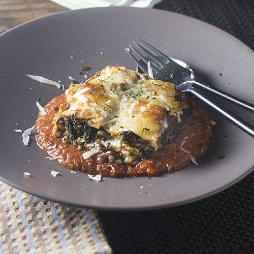 Gluten Free Spinach Eggplant Lasagna #pasta #glutenfree #eggplant | feedyoursoul2.com