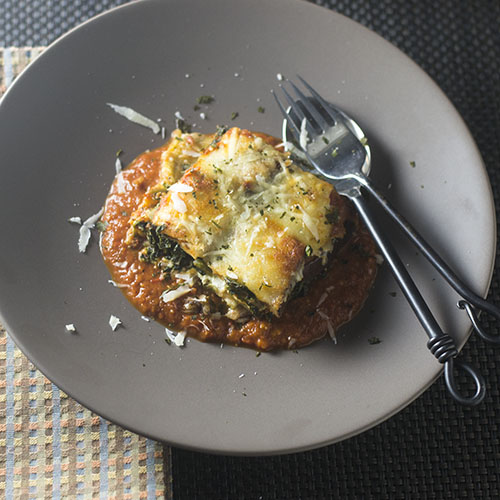 Gluten Free Spinach Eggplant Lasagna from Feed Your Soul Too