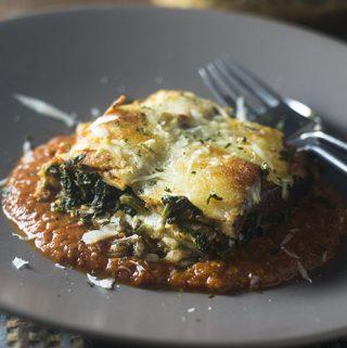Gluten Free Spinach Eggplant Lasagna