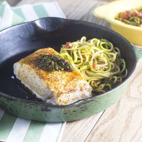 Sun Dried Tomato Pesto Sea Bass #dinner #seafood #pesto #sundriedtomatoes | feedyoursoul2.com